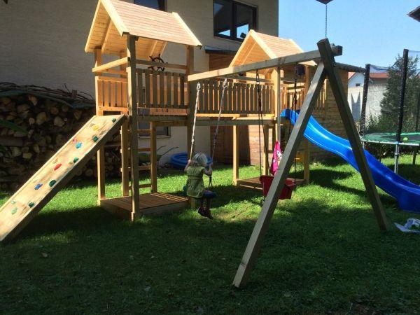 Luxus Spielturm mit Brücke - ROBBY im Sparpaket