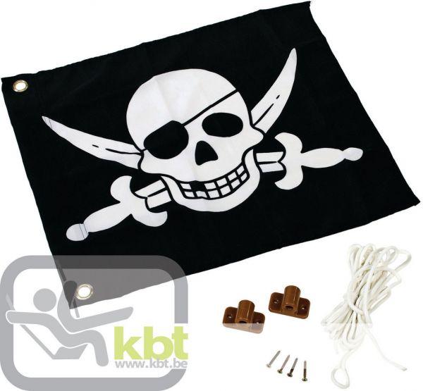 Piratenfahne mit Hiss-System